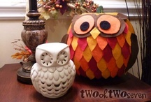 Fall, Halloween & Thanksgiving Crafts/Decor / by Kara Royston