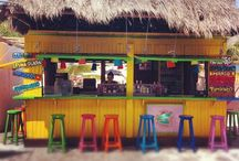 TROPICAL BARS / To sit in a Tropical Bar by the sea with a Boat Drink, does it get any better!