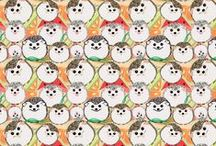 Fabric by Chovy #Spoonflower / Fabric designs by me....