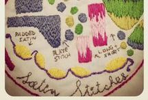 Satin Stitches / How-To, Inspiration, Dropcloth Stitch of the Month Samplers, Diagrams for AUGUST'S Sampler of the Month