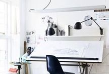 Creative Spaces / Artist Studios. Makers' spaces. Office areas. Basically areas that make you want to work, paint, draw, make, etc!  / by Marissa Huber