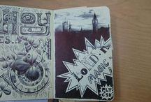 Ilustraciones, ideas. / Trabajos de ilustración y dibujos e ideas en moleskine