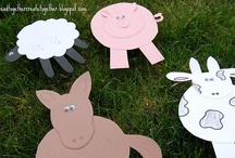 Down on the Farm / #farm, #barn, #tractor, #horse, #cow, #pig, #goat, #sheep, #dog, #cat, #chick, #chicken, #goose / by The Kinder Cupboard