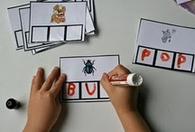 Phonics & Phonemic Awareness / #phonics, #phonemic #awareness #activities, #station activities, #centers, # / by The Kinder Cupboard