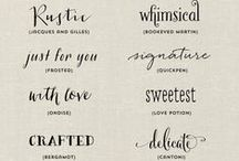 Fonts / I Love Writing.