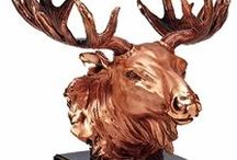 Moose Statues / Bring an exciting look to your home and create a beautiful focal point with these outstanding moose statues.