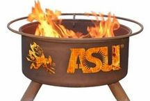 Collegiate Metal Fire Pits / Show your school spirit in your backyard, on your patio, in your pool area, and at your next tailgate party with these outstanding collegiate metal fire pits.