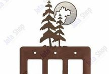 Nature Switch Plates & Outlet Covers / Add stylish beauty to the walls in your living space and bring a decorative nature flair to your current decor with these metal switch plates and outlet covers.
