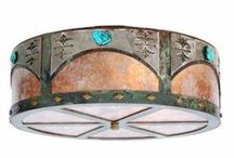 Ceiling Light Fixtures / Add western, rustic, wildlife, or southwest style to your entire room evenly and bring a new look to your home, cabin, lodge, or cottage with any of these metal ceiling light fixtures.
