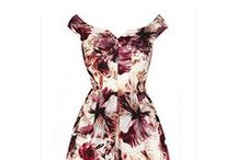 Water Floral 50s Influenced Midi Dress / SUZANNAH watercolour floral fifties influenced midi dress