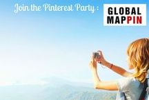 Global Mappin / A board dedicated to joining the conversation with the Global Mappin community. Global Mappin's mission is connect consumer and travel brands on Pinterest in a fun way. They host a weekly Pinterest event that takes you on a fun trip – on Pinterest // New theme each week. Join the spin - around the globe we go!  globalmappin.com