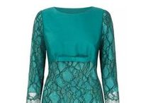 Block Shift Wool Silk Bali / A modern, elegant shift with slick appeal. Tailored well to skim over the body silhouette, with empire line which is flattering. French lace mounted onto lightweight wool/silk and silk satin. The perfect versatile investment piece. Works well when combined with the trapeze dress coat  www.suzannah.com