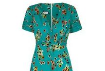 Vintage 30's Style Tea Dress in Ocean Pansy / New Season print . Based on a 1930's silk tea dress cut which is our best selling signature tea dress style because of its flattering nature, unique charm and versatility..x    www.suzannah.com