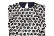 Sequin Daisy Bodice Top in Navy / Fully beaded silk based statement top. Sequinned design in a beautiful daisy pattern in tones of matt white, navy and black. The colourway and design have a subtle late 1950's early 1960s reference. A chic exclusive top designed to be worn with our 1950s Influenced Cocktail skirt..x  www.suzannah.com