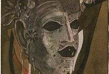 Theatrical masks-Shmokhin / Маски для театральных представлений.