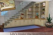 basement under stairs storage / ideas for working that odd space we all have under the stairs.