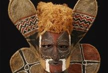 MASKS and AFRICAN PRODUCTS / Masques Visages Couleurs