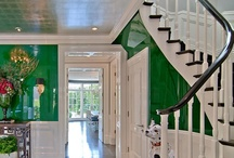 black lacquered banisters