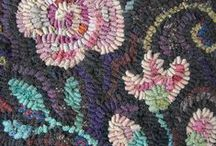 Hooking - Rugs, O ld Fashioned / Old-fashioned rug-hooking.