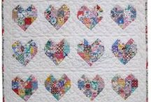 I Heart Quilts / quilts made using heart designs