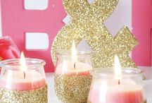 Bachelorette Party/bridal shower / I'm thinking I want my bridal shower to be Pink and Gold Glitter!!  I'm obsessing over it! I'm open for your ideas!  / by Heather McClain