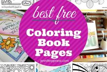 Coloring Books for Grownups / Coloring books for grownups and coloring for adults and even some kids coloring books, free printable coloring books, supplies for coloring, watrercolor, best markers for coloring books.