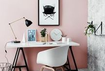 Desks . Office Decor .  Home Office . Work Space / Home offices can get junky quick - these spaces are dreamy with great color, organizing idea,s and desks. How to style your desk, how to make a pretty functional home office, and how to make working from home pretty and fun