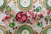 Tablescapes / How to decorate and set the table, decorate the table, fancy place settings and wedding tables, dinner party decor