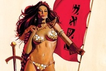 * Comics: Vigilantes | Villians / Mainly Red Sonja, Vampirella, Hellboy, The Endless, Spawn, Sin City, & Watchmen etc.  Please check out my artist specific boards for more pins. / by Karen L