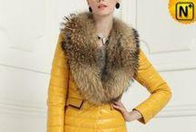 Women Sheepskin Down Coats / Warm, fashionable sheepskin down leather coats for  women.