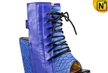 Women Leather Wedges Shoes / Stylish. colorful leather wedges shoes for women.