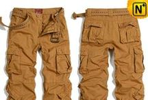Mens Cargo Pants / Casual, fashionable cargo pants, como cargo pants with belt for men