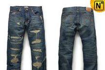 Mens Designer Jeans / CWMALLS® Men's Ripped Jeans, Designer Jeans, Skinny Jeans.