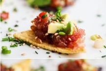 """Food - Small bites & Starters / """"Food is our common ground, a universal experience."""" –James Beard"""