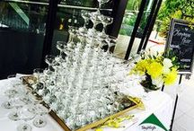 Champagne Towers / Stunning multi tier champagne towers for weddings and corporate events.
