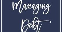 Managing Debt / How to pay off your debt... Is that something you're always wondering? Wonder no longer because I'm sharing the best tips to pay off all of your debt as effectively as possible so that you can stop living paycheck to paycheck and start saving that paycheck! You're earning 6 figures and you're still not reducing your debt? Let me help you become debt free so you can keep that 6 figure income for yourself. I'm sharing Managing credit card debt, managing debt tips and managing personal finance debt