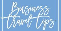 Business Travel Tips / Learn how to pack light and quickly for business trips and how to manage jet lag, healthy eating and healthy living while traveling for business. Business travel outfit, business travel hacks, business travel essentials, business travel carry on, business travel women, business travel tips, business travel packing.