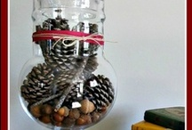 hurricane & apothecary jar decor / Decorating with hurricane and apothecary jars.