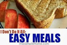 meal planning / by Annette @ This Simple Home
