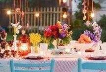 tafels | diner | feest | kleur | gedekte tafels / tables, dinner, party & color / Mooi gedekte tafels