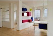 Coaching - *Helmet_1* / Conseils en aménagement et décoration pour un espace de vie situé au deuxième étage d'un duplex sous les toits.