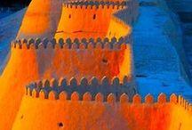 Terracotta & Blue