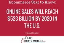 Ecommerce Statistics / Ecommerce is growing - check out these exciting numbers.  You'll want to consider online business opportunities after studying these facts!