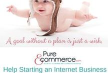 Starting an Internet Business / Thinking of starting or buying an internet business? Want to work from home or anywhere - Pure-Ecommerce has some tips on how to get started. Pure-Ecommerce can help you step into the internet business of your dreams!