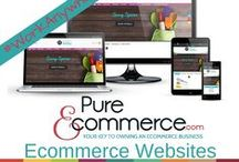 Ecommerce Websites / This collection of ecommerce websites showcase our talented web designers abilities.  Our ecommerce websites are responsive design, come pre-loaded with drop-ship products and we train you how to set up and run your ecommerce business.  Find out how today!  #Pure-Ecommerce