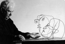 Alexander Calder / Alexander Calder est un sculpteur et peintre américain né le 22 juillet 1898 à Lawnton près de Philadelphie et mort le 11 novembre 1976 à New York. Il est surtout connu pour ses mobiles ainsi nommés sur proposition de Marcel Duchamp lors de leur exposition à Paris en 1932 à la galerie Vignon, ses assemblages de formes animées par les mouvements de l'air qui sont aussi des mobiles, et ses stabiles.