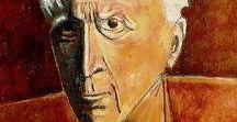 Georges Braque / Georges Braque, né à Argenteuil (Seine-et-Oise, actuellement Val-d'Oise) le 13 mai 1882 et mort à Paris le 31 août 1963, est un peintre, sculpteur et graveur français. D'abord engagé dans le sillage des fauves, influencé par Henri Matisse, André Derain et Othon Friesz, il aboutit, à l'été 1906 aux paysages de l'Estaque avec des maisons en forme de cubes que Matisse qualifie de « cubistes », particulièrement typées dans le tableau Maisons à l'Estaque.