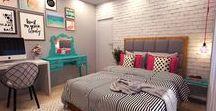 QUARTO / Inspirações de decoração para quartos.