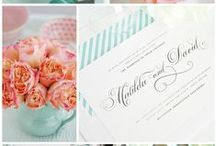 Aquamarine and Peach Wedding / by Shine Wedding Invitations