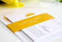 Yellow and Royal Blue Wedding / Yellow and Royal Blue Wedding Inspiration / by Shine Wedding Invitations
